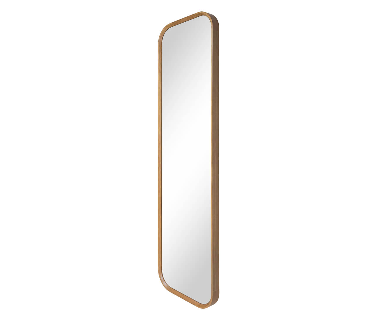 espelho de corpo inteiro retangular em madeira oslo 1300