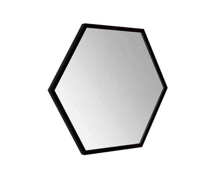 espelho hexagonal preto 80cm 0911