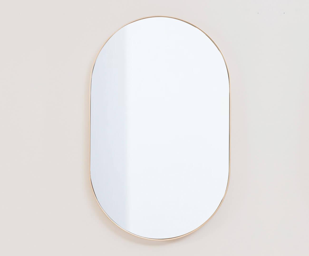 espelho oval dourado asturias 1137
