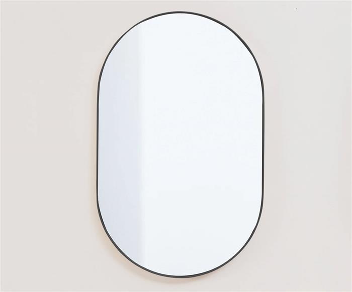 espelho oval preto asturias 1138