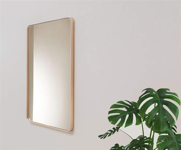 espelho retangular dourado ibiza 1134