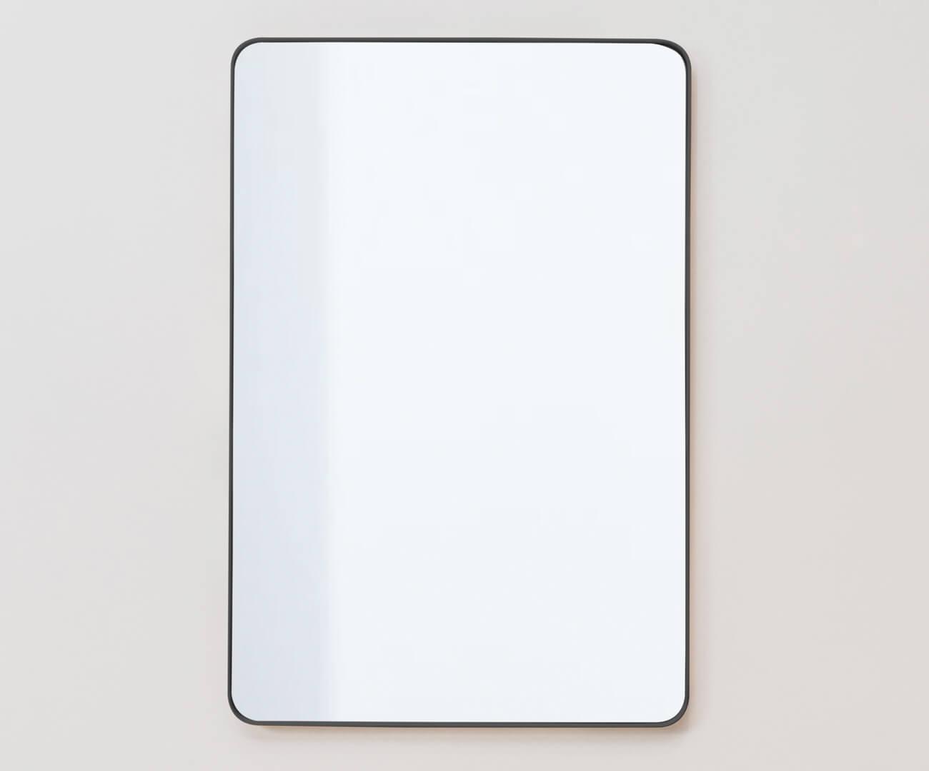 espelho retangular preto ibiza 1133