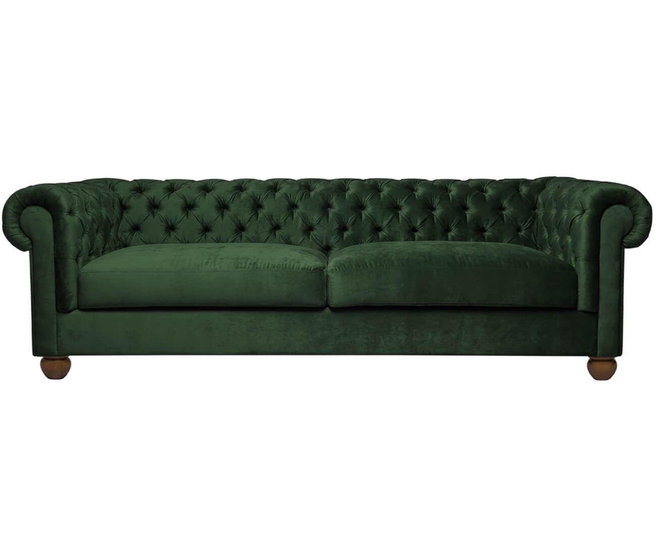 sofá chesterfield em veludo 2 lugares 1091