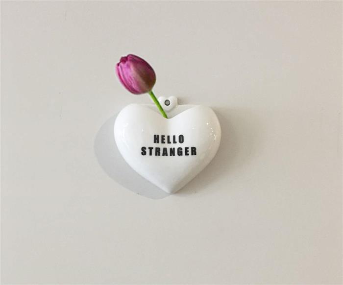 vaso de parede coração (hello stranger) 0870