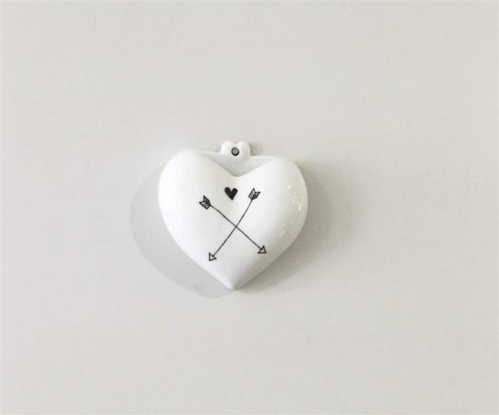 vaso de parede coração (cupido) 0871