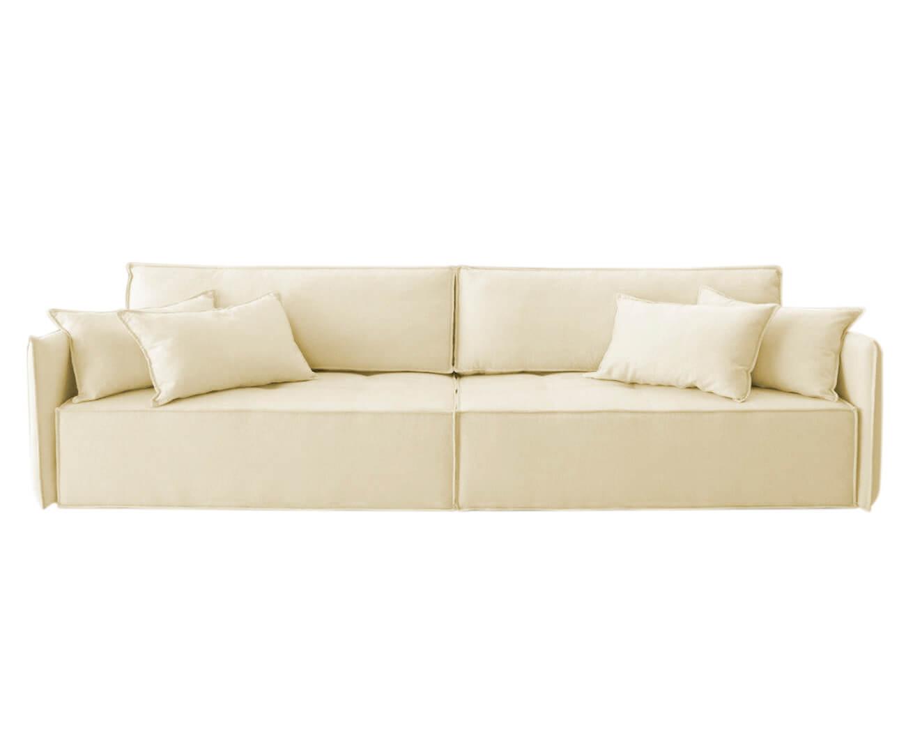 sofá retrátil 3 lugares em molas sogno 1068