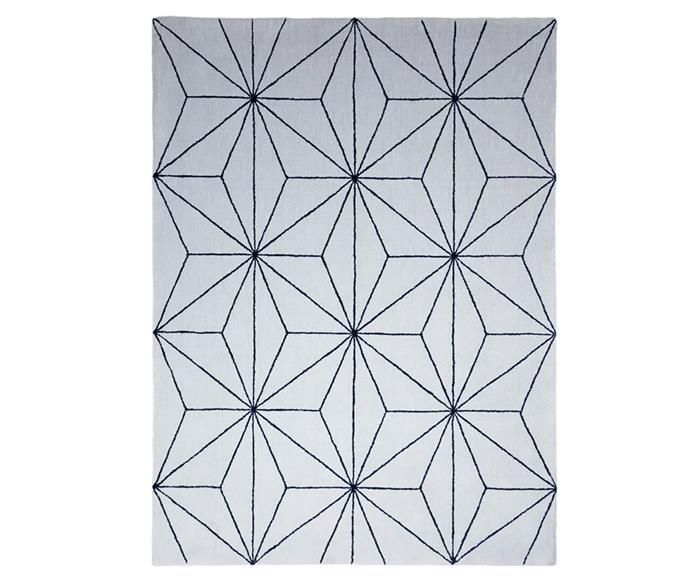 tapete fractais cinza e azul marinho 1315G
