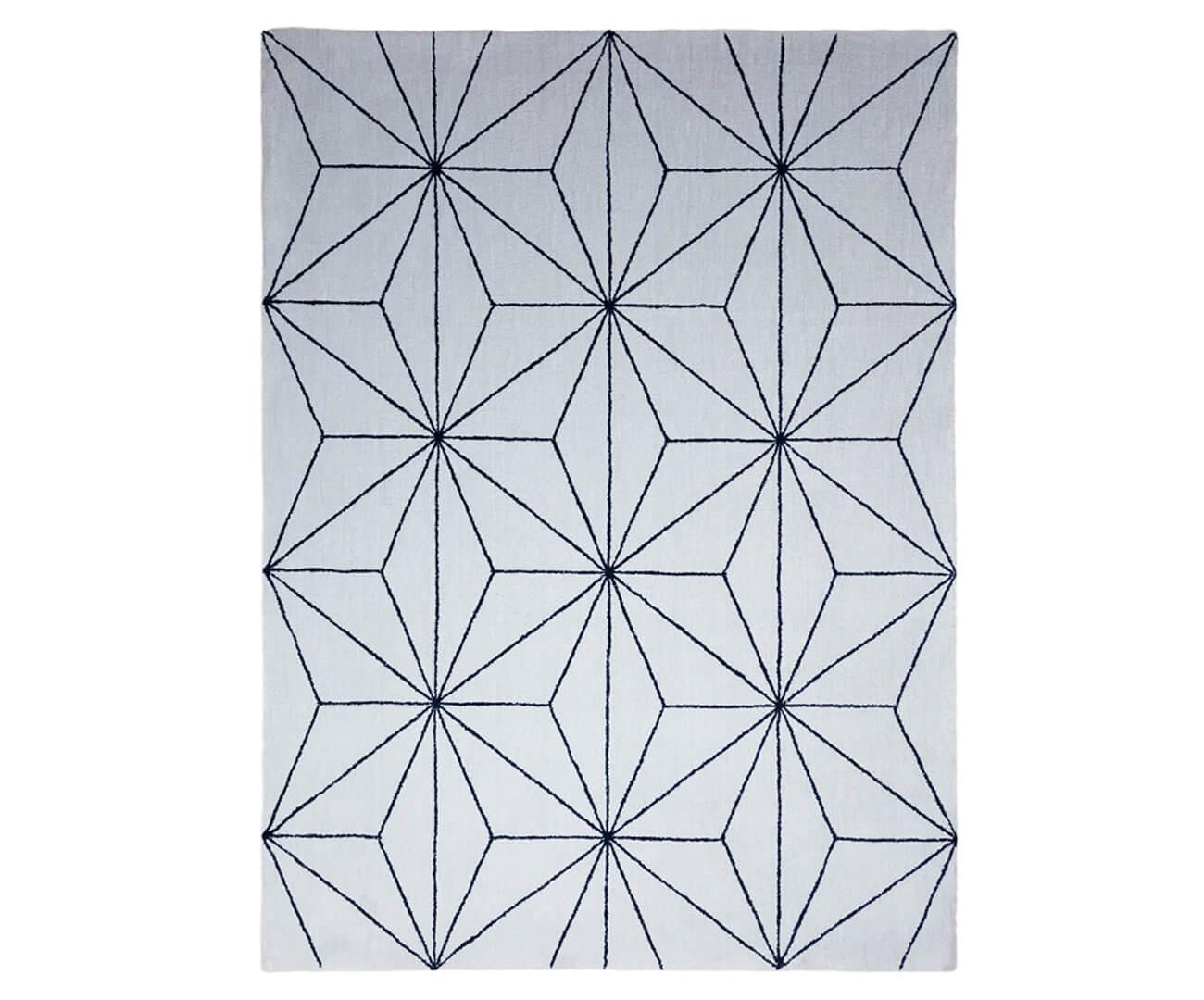 tapete fractais cinza e azul marinho 1315