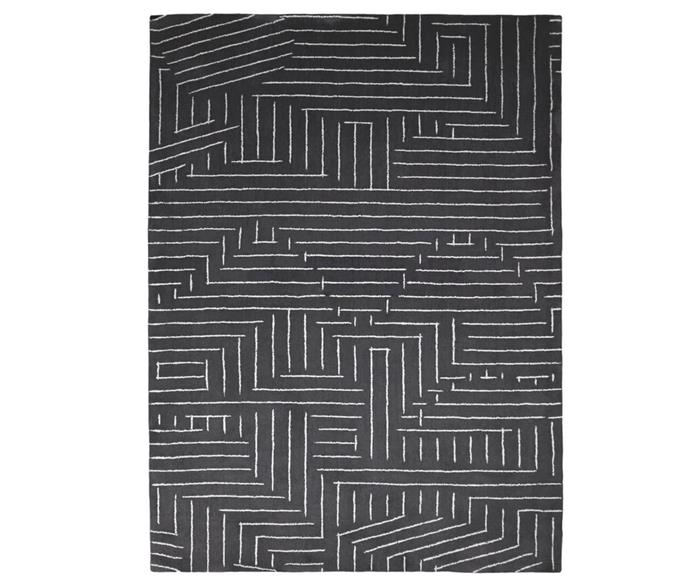 tapete linhas disformes cinza chumbo 1316G