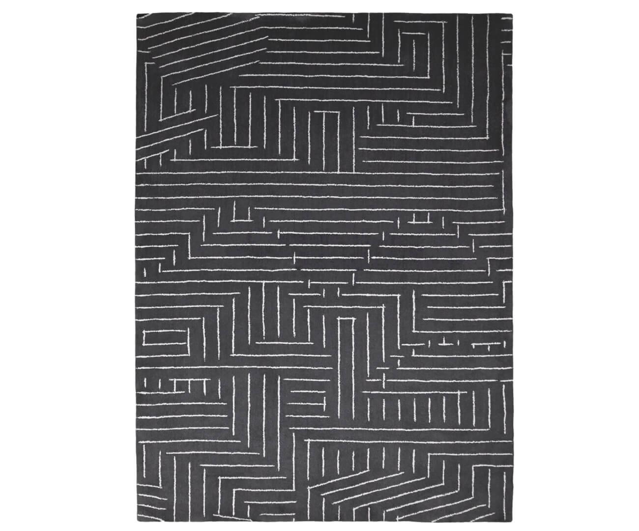 tapete linhas disformes cinza chumbo 1316