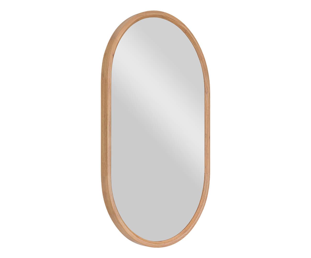espelho oval em madeira oslo 1346