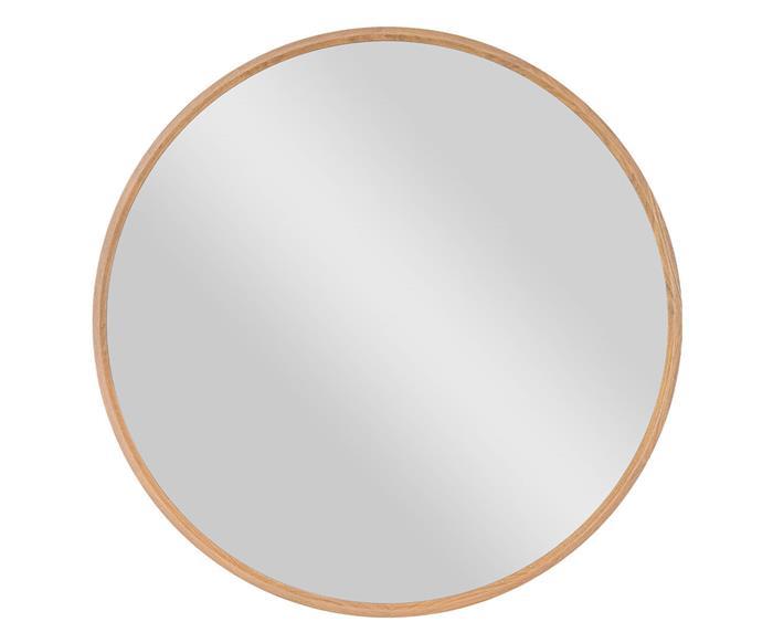 espelho redondo em madeira 90cm oslo 1347