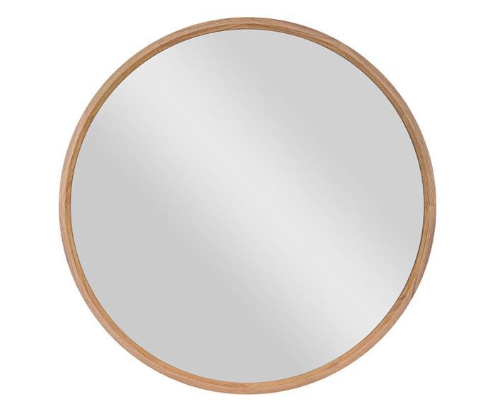 espelho redondo em madeira 70cm oslo 1348