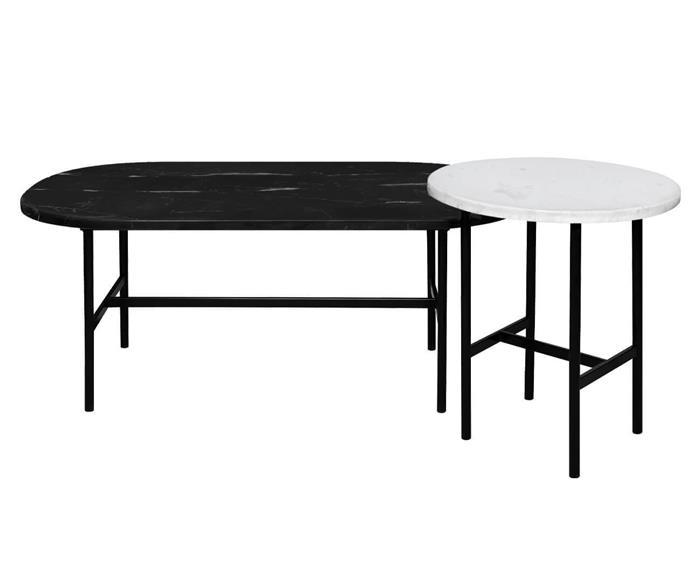 conjunto de mesa de centro em pedras naturais drops 1354