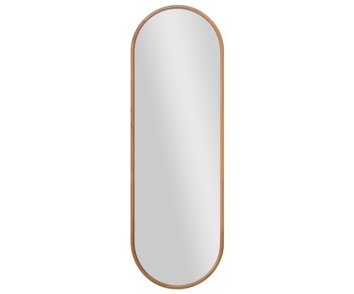 espelho de corpo inteiro oval em madeira oslo 1359