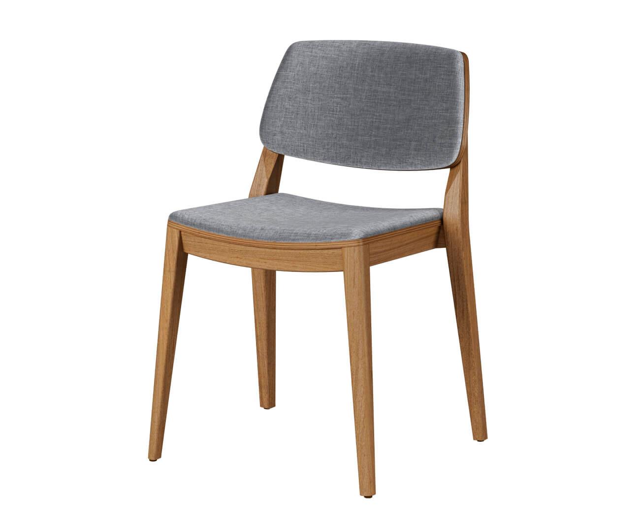 cadeira empilhável em madeira maciça otranto 1363