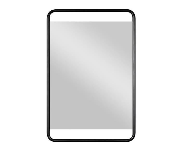 espelho retangular preto em metal soho 1364