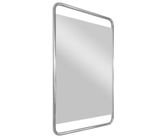 espelho retangular cromado em metal soho 1366