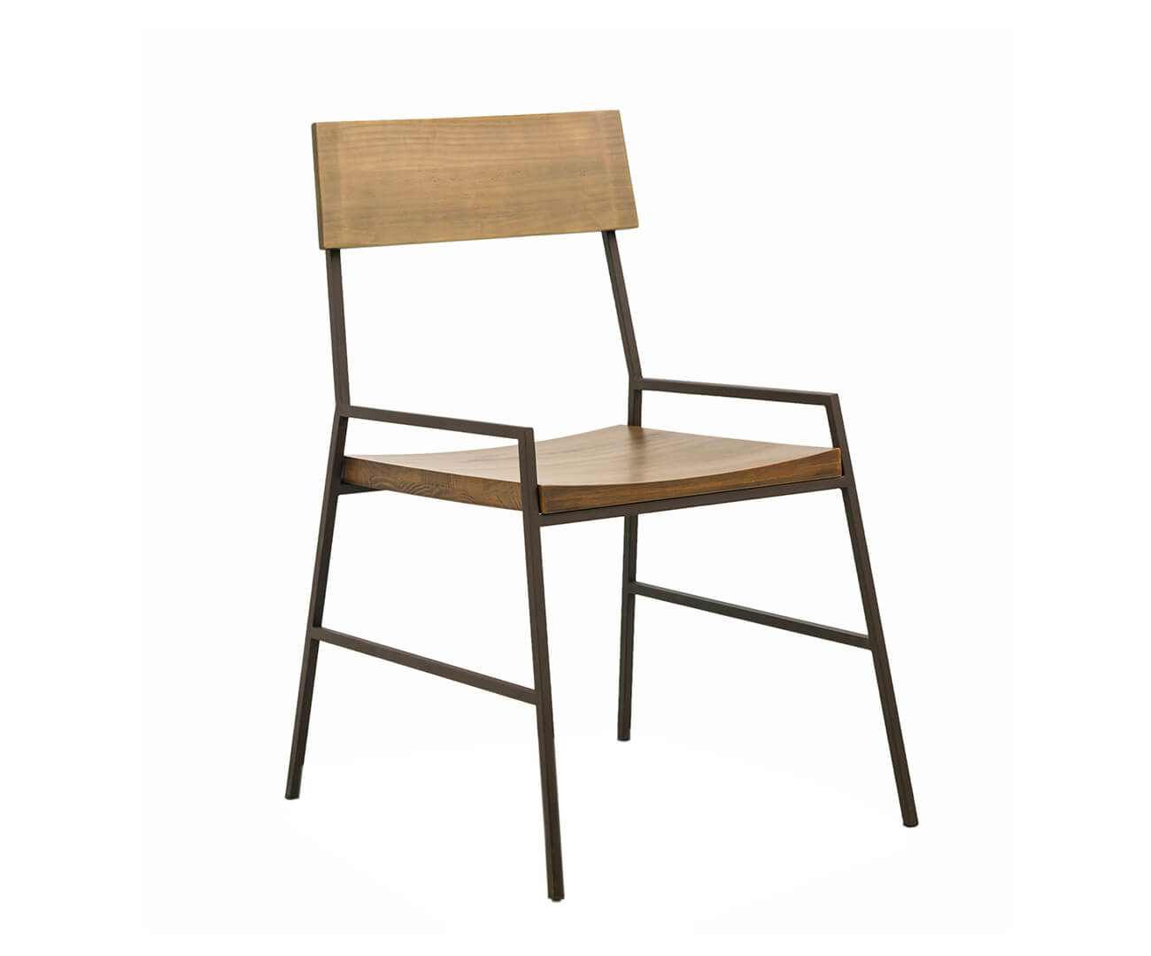 cadeira em madeira maciça e metal mescla 1288