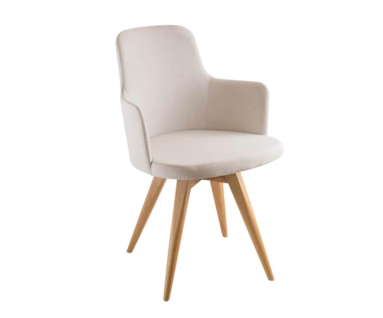 cadeira giratória base madeira hanover (tecido) 1054