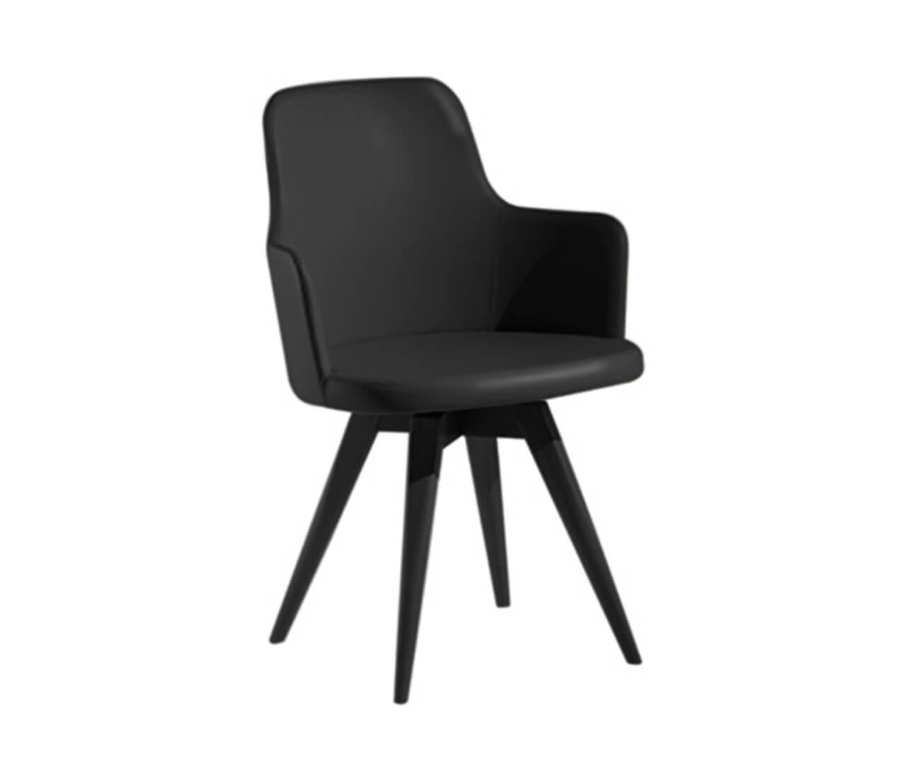 cadeira giratória base madeira hanover (couro sintético) 1146