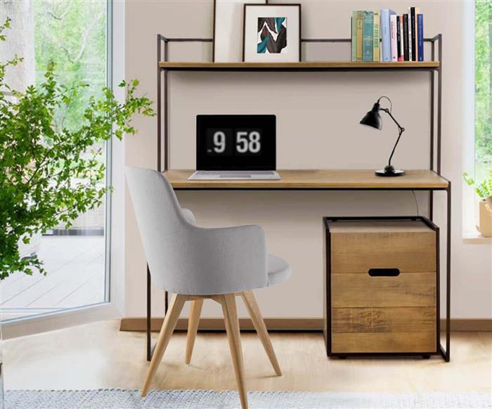 gaveteiro em metal e madeira maciça mescla 1275 gaveteiro em metal e madeira maciça mescla 2v