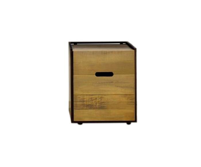 gaveteiro em metal e madeira maciça mescla 1275 gaveteiro em metal e madeira maciça mescla 3