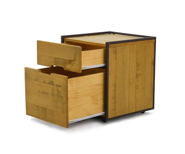 gaveteiro em metal e madeira maciça mescla 1275 gaveteiro em metal e madeira maciça mescla 4