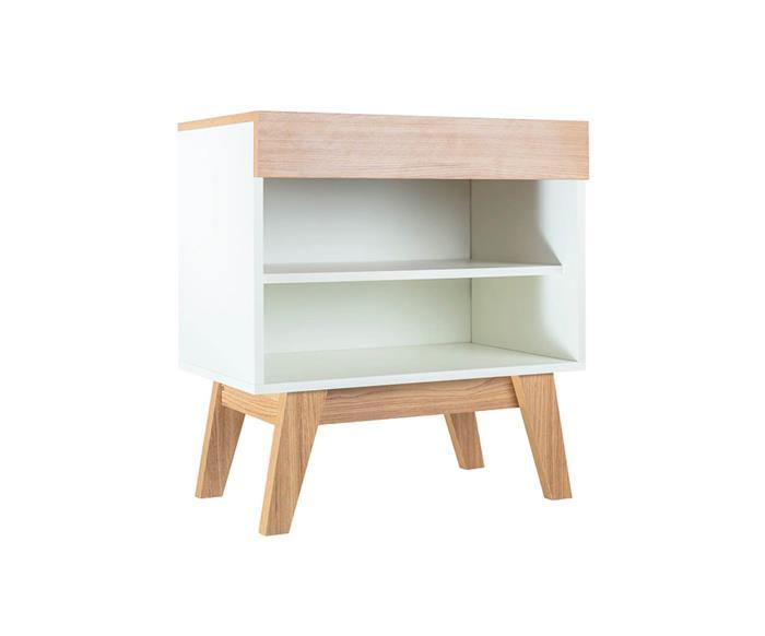mesa de cabeceira branca e madeira trend 0937 mesa de cabeceira branca e madeira