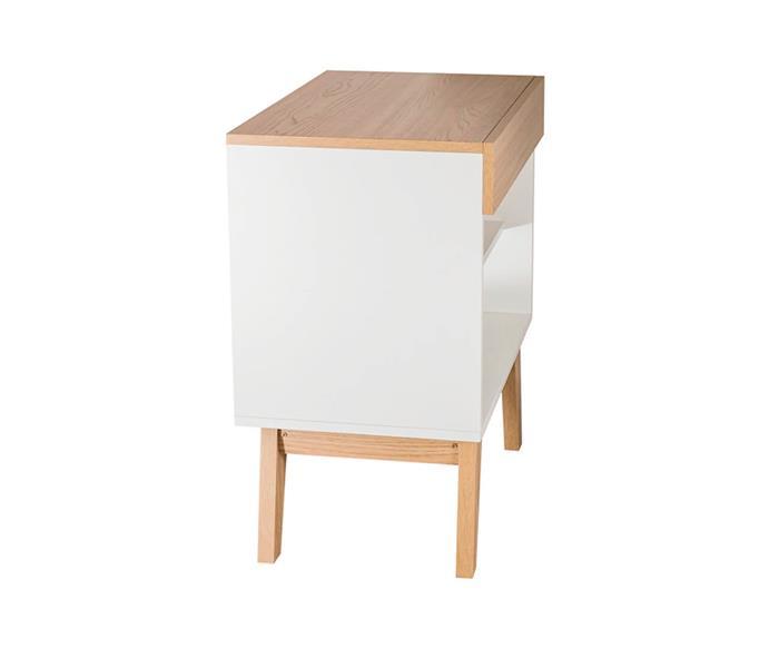 mesa de cabeceira branca e madeira trend 0937 mesa de cabeceira branca e madeira 2