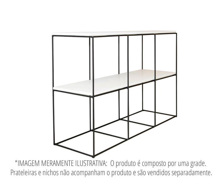 estante de metal vergalhão cubic baixa 0865 estante rack de metal vergalhão 4