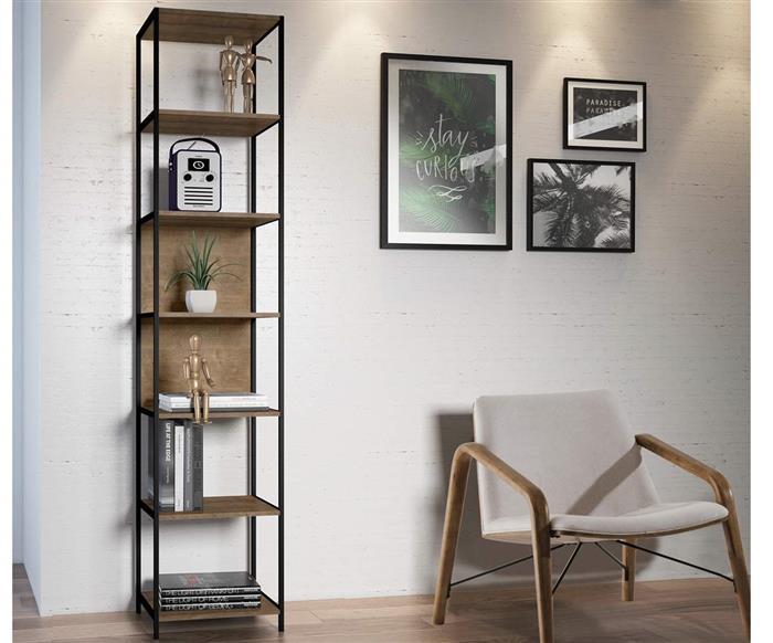 estante em metal e madeira camden pequena 0925 estante em metal e madeira 1