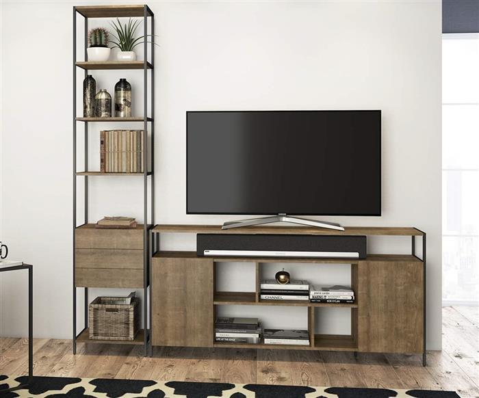 estante com gavetas camden 0929 estante metal e madeira com gavetas vira