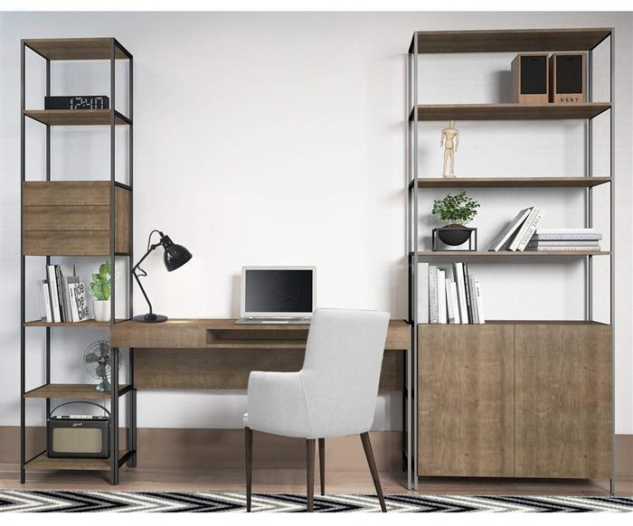 estante com gavetas camden 0929 estante metal e madeira com gavetas 2