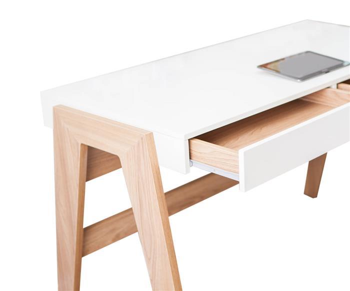 escrivaninha com gavetas trend 0284 escrivaninha com gavetas madeira e branca