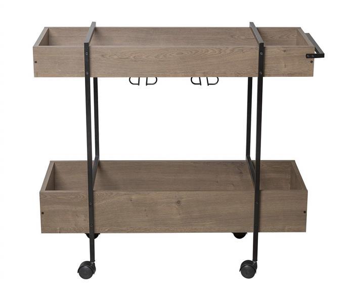 carrinho de bar em metal e madeira camden 1108 carrinho de bar em metal e madeira