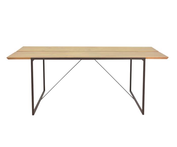 mesa de jantar em metal e madeira mescla 1049 mesa de jantar em metal e madeira mescla