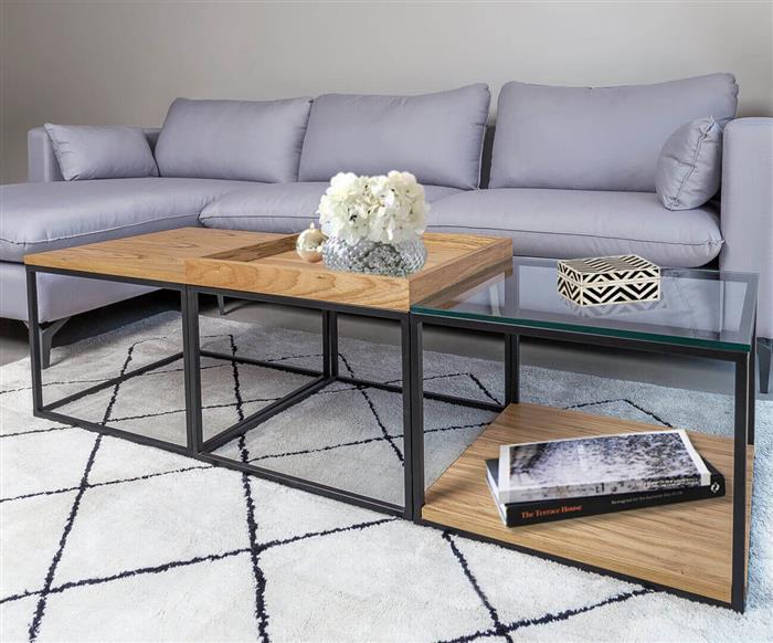 mesa com vidro e madeira cube 1306 mesa com vidro e madeira cube