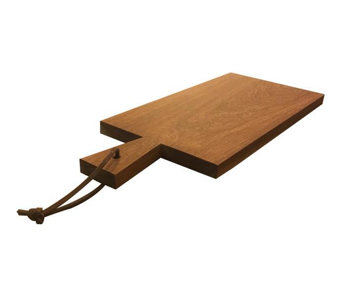 tábua de cozinha retangular (cedrinho) 0833 tabua de cozinha em cedrinho com couro