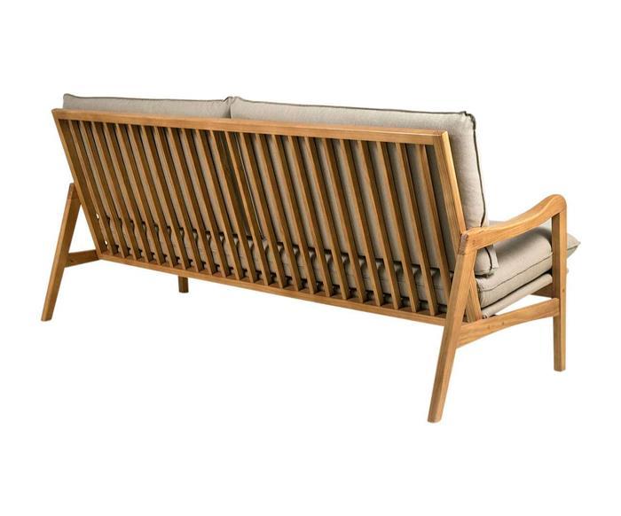 sofá em madeira maciça escandinávia 1058 sofá em madeira maciça e linho bege cru 1