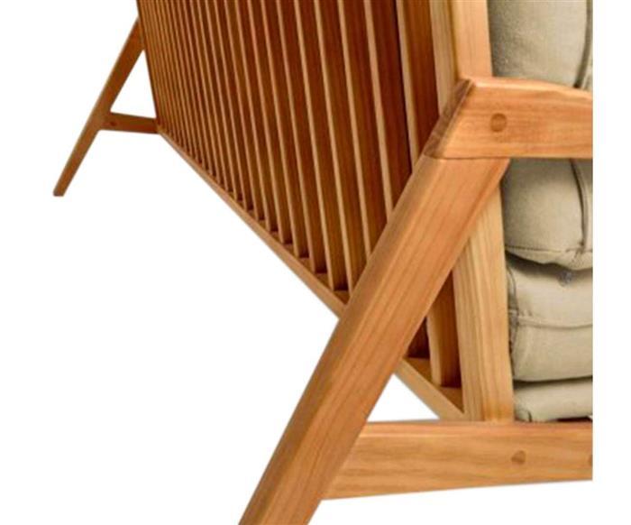 sofá em madeira maciça escandinávia 1058 sofá em madeira maciça e linho bege cru 2