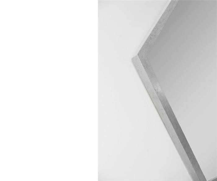 espelho hexagonal prata 80cm 0953 espelho hexagonal prata 80cm