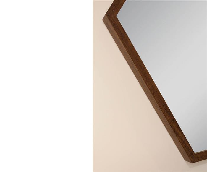 espelho hexagonal madeira 100cm 0951 espelho hexagonal madeira 100cm