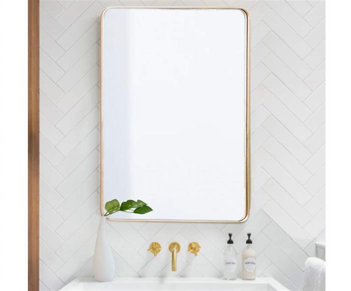 espelho retangular dourado ibiza 1134 espelho retangular dourado ibiza