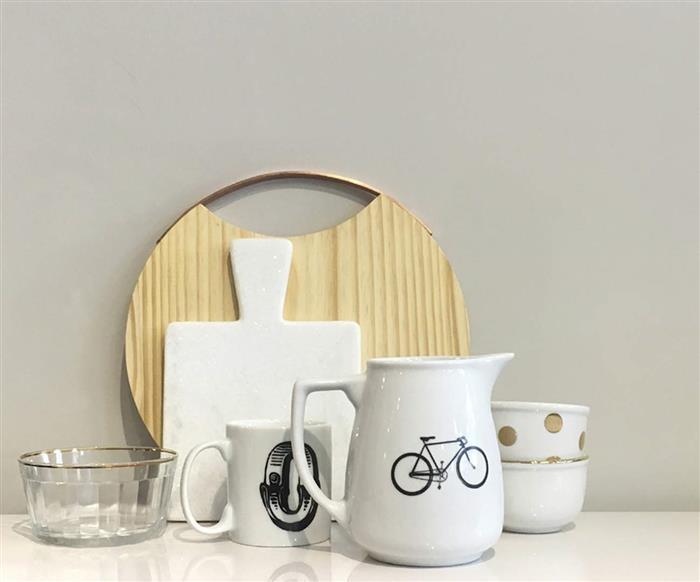jarra em porcelana bicicleta 0896 jarra em porcelana bicicleta