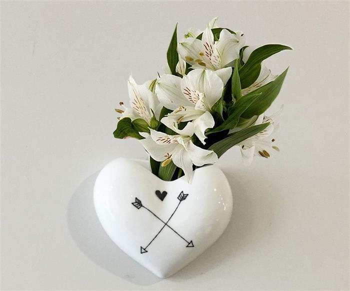 vaso de parede coração (cupido) 0871 vaso de parede coração (cupido)