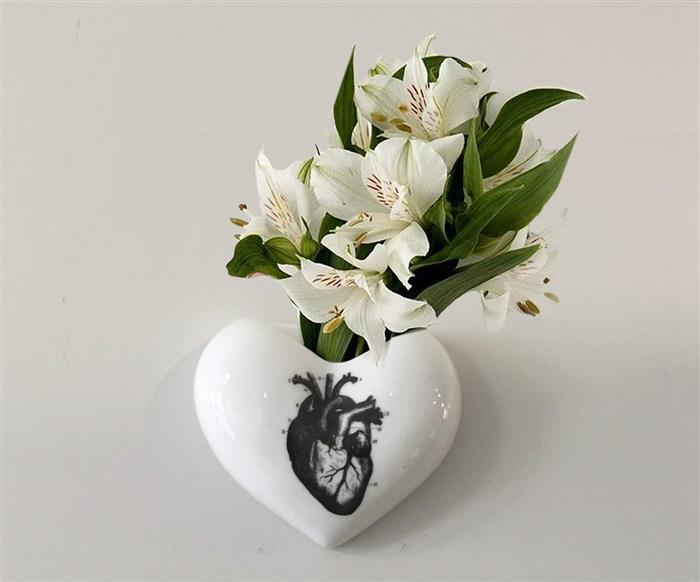 vaso de parede coração (heart) 0868 vaso de parede coração (heart)