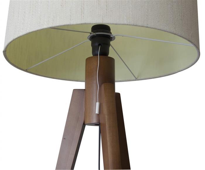 luminária de mesa em madeira tripé 1001 luminária de mesa em madeira tripé