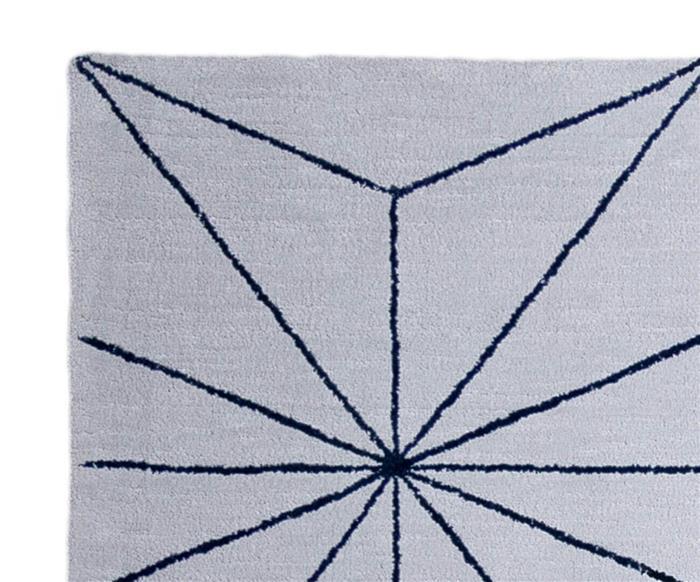 tapete fractais cinza e azul marinho 1315G tapete fractais cinza e azul marinho
