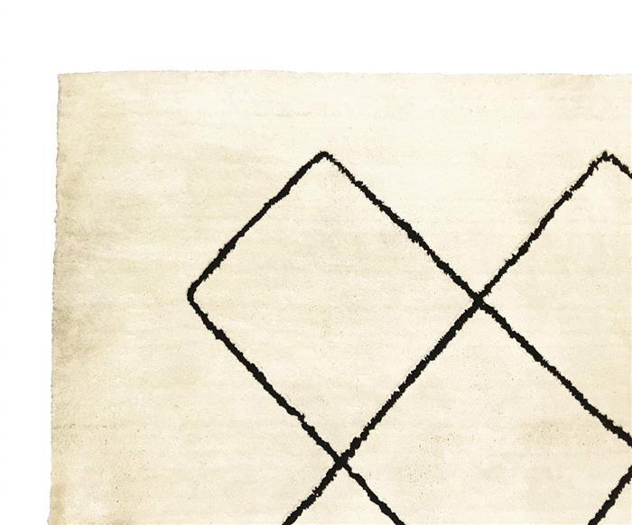 tapete losangos bege e preto 1028G tapete losangos bege e preto